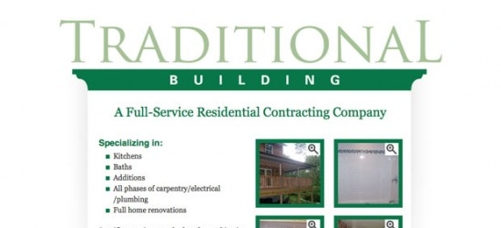 Traditional Building Website